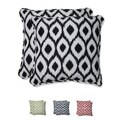 Pillow Perfect 18.5-inch Throw Pillow with Bella-Dura Shivali Fabric (Set of 2)