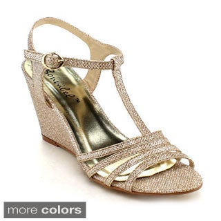 BONNIBEL FLOSA-1 Women Glitter T-strap Dress Heels