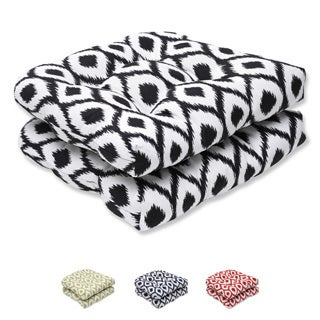 Pillow Perfect Wicker Seat Cushion with Bella-Dura Shivali Fabric (Set of 2)
