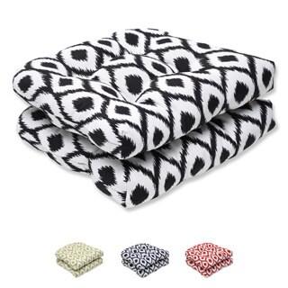 Pillow Perfect Wicker Seat Cushion with Bella-Dura Shivali Fabric (Set of 2)