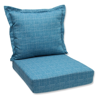 Pillow Perfect Deep Seating Cushion and Back Pillow with Conran Turquoise Bella-Dura Fabric