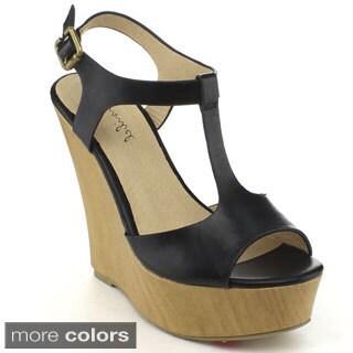 BONNIBEL KAY-3 Women's T-strap Ankle Strap Sandals