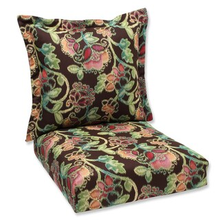 Pillow Perfect Deep Seating Cushion and Back Pillow with Vagabond Sunbrella Fabric