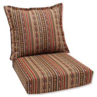 Pillow Perfect Deep Seating Cushion and Back Pillow with Chimayo Sunbrella Fabric