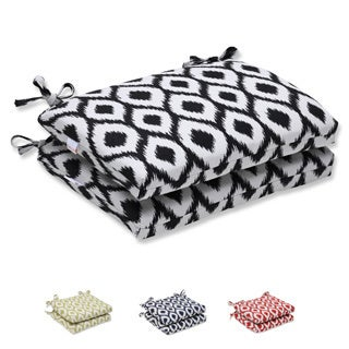 Pillow Perfect Squared Corners Seat Cushion with Bella-Dura Shivali Fabric (Set of 2)