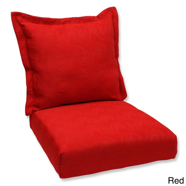 Pillow Perfect Deep Seating Cushion and Back Pillow with Sunbrella ...