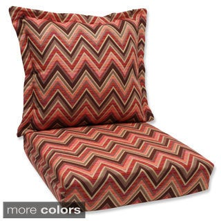 Pillow Perfect Deep Seating Cushion and Back Pillow with Fischer Sunbrella Fabric