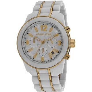 Michael Kors Women's MK5804 'Preston' Acetate Chronograph Watch