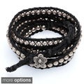 Five Wrap Bead and Braid Cord Bracelet (Thailand)