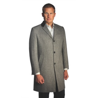Jean Paul Germain Men's 'Chesterfield' Herringbone Overcoat
