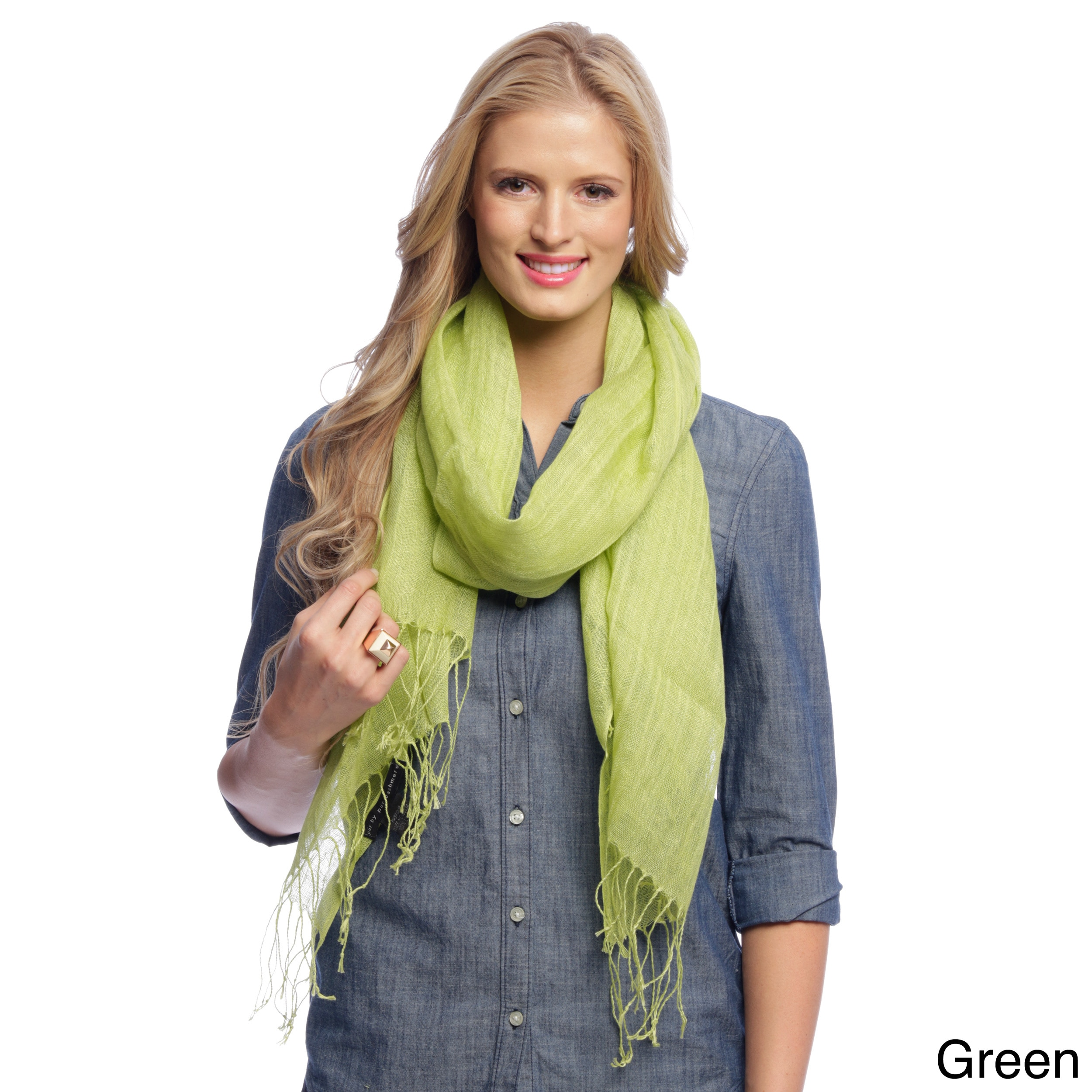 Overstock.com Cashmere Showroom Oversized Luxury Linen Scarf at Sears.com