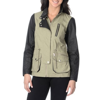 Bernardo Women's Cotton Mixed Meddia Anorak Jacket