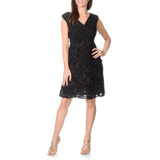 Patra Women's Petite Soutache Party Dress