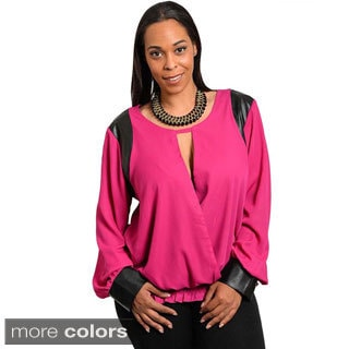 Feellib Women's Plus Sassy Woven Top
