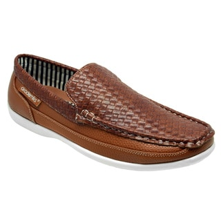 Akademiks Men's 'George' Tan Slip-on Loafers