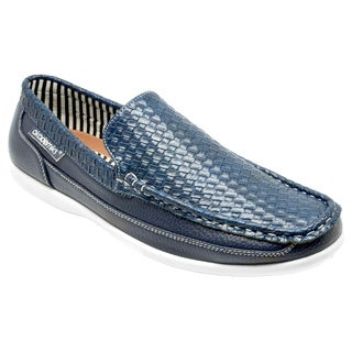Akademiks Men's 'George' Navy Slip-on Loafers