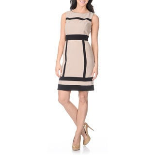 Tahari Arthur S. Levine Women's Colorblock Trim Dress