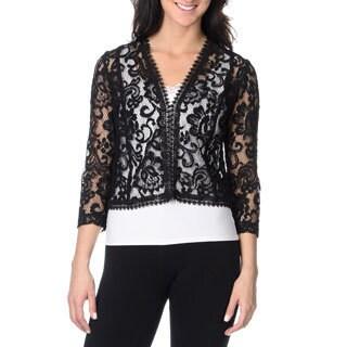 Tahari Arthur S. Levine Women's Lace Jacket