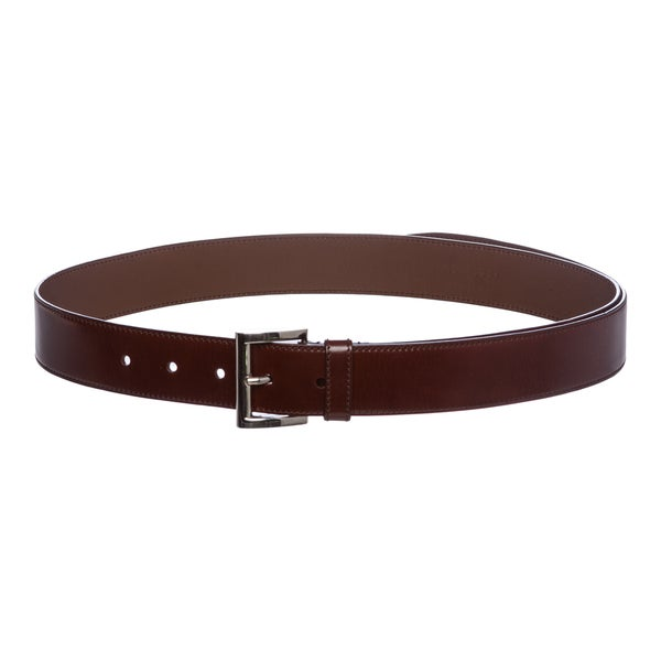 Prada Leather Square Buckle Belt