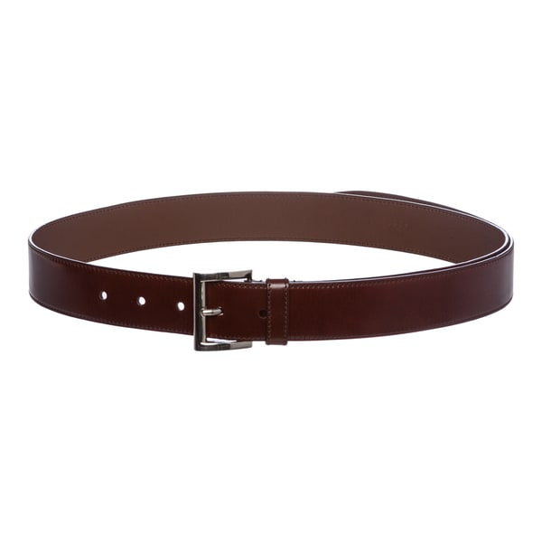 Prada Leather Square Buckle Belt