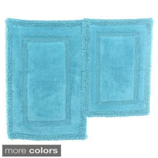 Steve Madden Cotton Border 2-piece Bath Rug Set