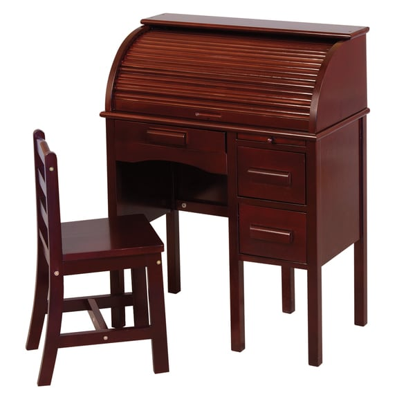 Jr Roll Espresso Top Desk 16294783 Overstock Com
