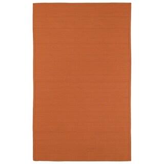 Indoor/ Outdoor Malibu Woven Orange Rug (2' x 3')