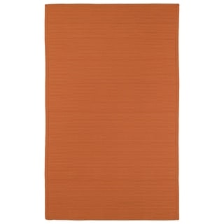 Indoor/ Outdoor Malibu Woven Orange Rug (9' x 12')