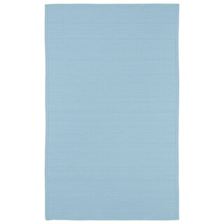 Indoor/ Outdoor Malibu Woven Light Blue Rug (9' x 12')