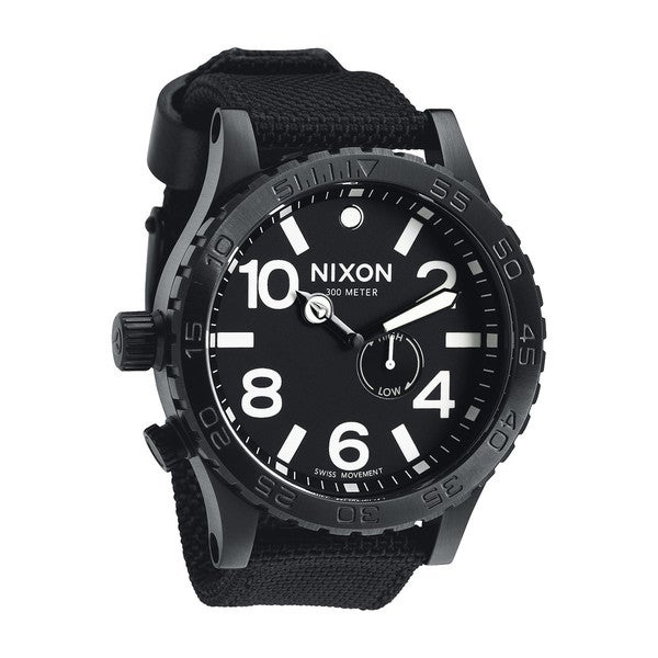 Nixon Men's 51-30 Tide A057 All Black Nylon Watch