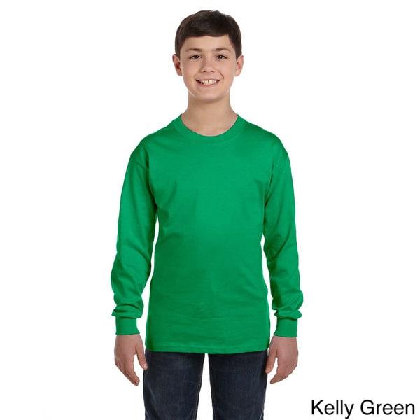 Youth Heavy Cotton Long Sleeve T-shirt