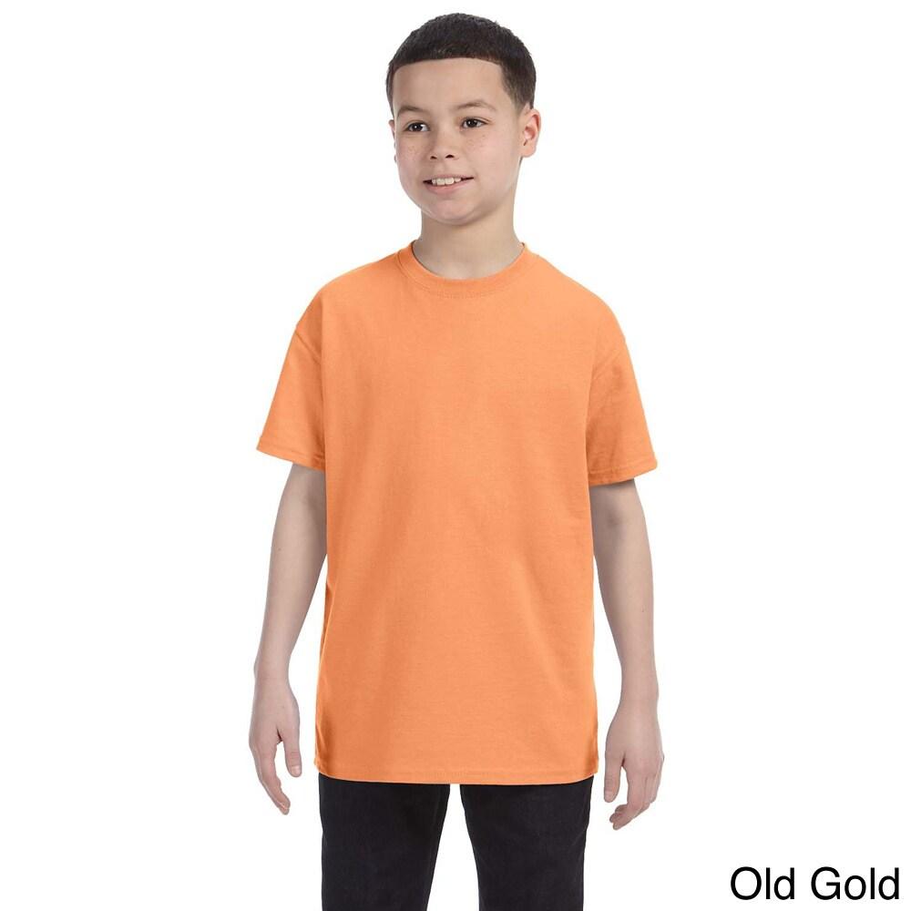 Gildan Gildan Youth Heavy Cotton T shirt Gold Size L (14 16)