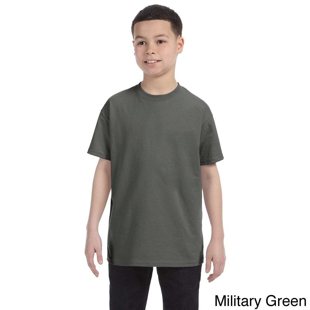Gildan Gildan Youth Heavy Cotton T shirt Green Size L (14 16)