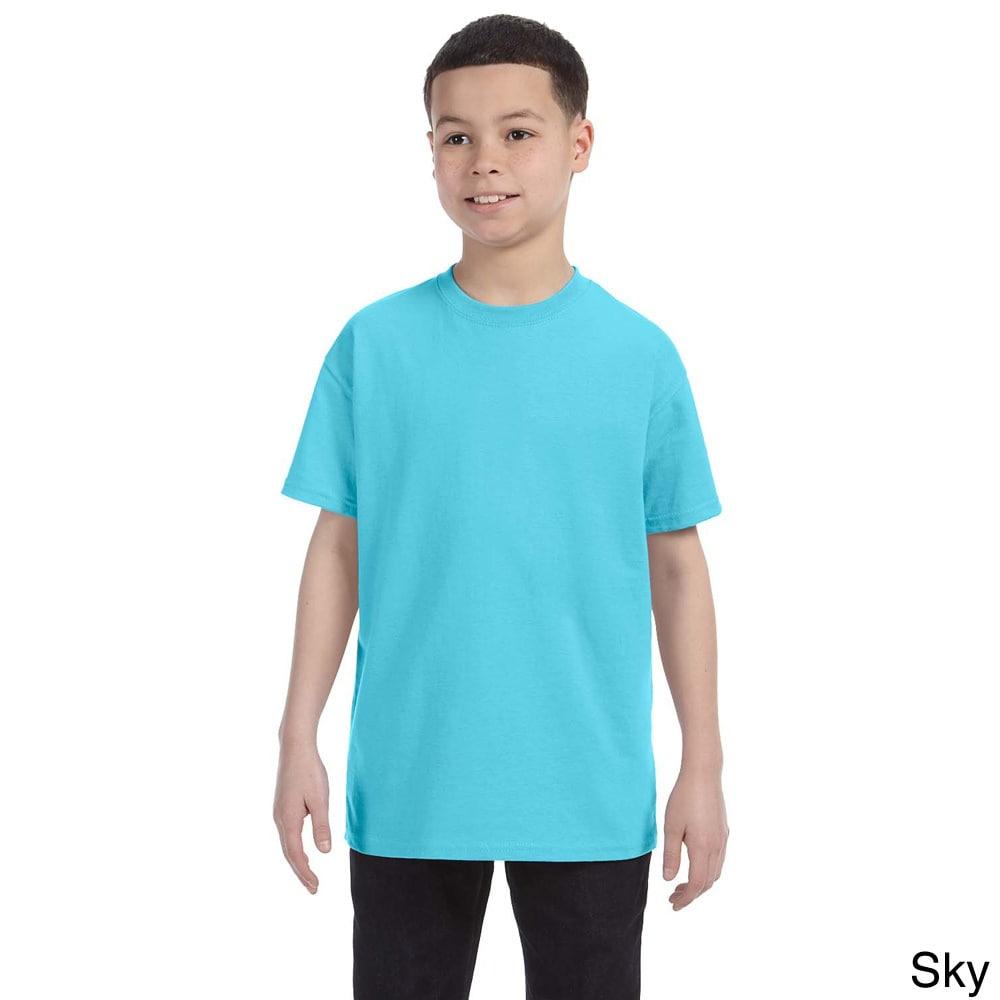 Gildan Gildan Youth Heavy Cotton T shirt Blue Size L (14 16)
