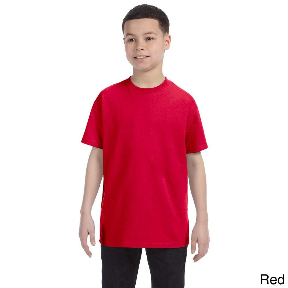 Gildan Gildan Youth Heavy Cotton T shirt Red Size L (14 16)