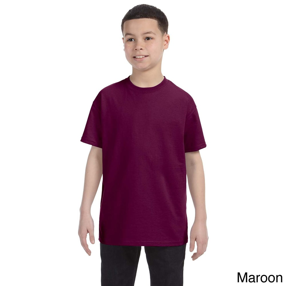Gildan Gildan Youth Heavy Cotton T shirt Brown Size L (14 16)