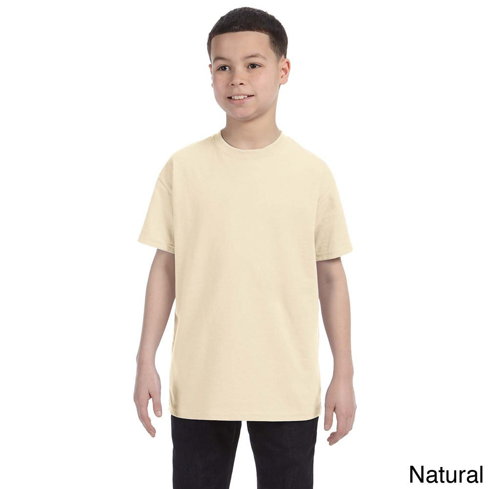 Gildan Gildan Youth Heavy Cotton T shirt Beige Size M (10 12)