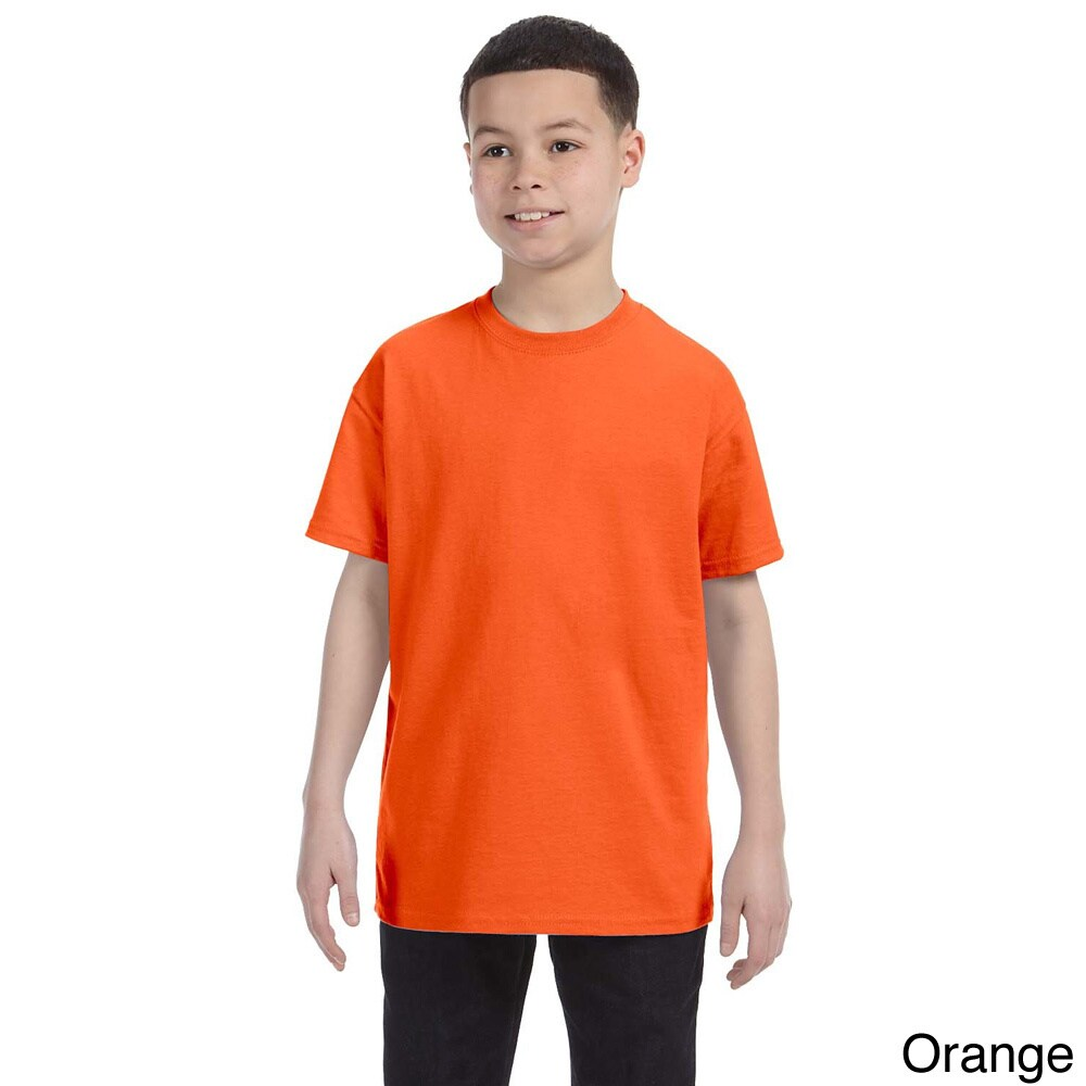 Gildan Gildan Youth Heavy Cotton T shirt Orange Size M (10 12)