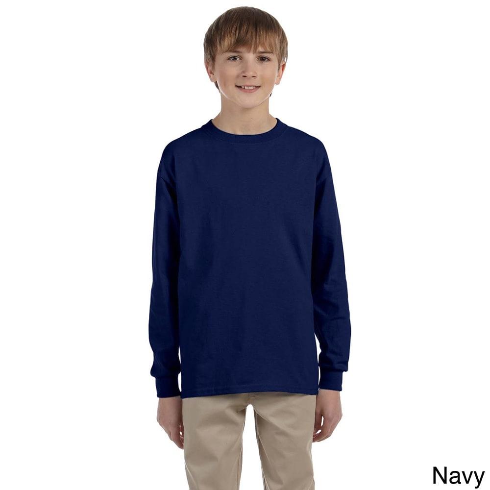 Gildan Youth Ultra Cotton 6 ounce Long Sleeve T shirt