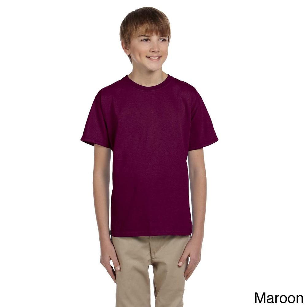 Gildan Gildan Youth Ultra Cotton 6 ounce T shirt Brown Size M (10 12)
