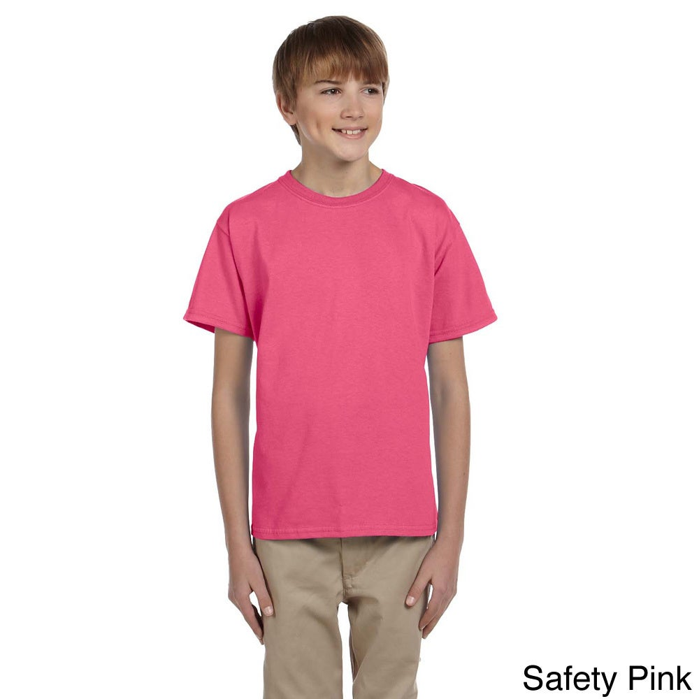 Gildan Gildan Youth Ultra Cotton 6 ounce T shirt Pink Size XS (4 6)