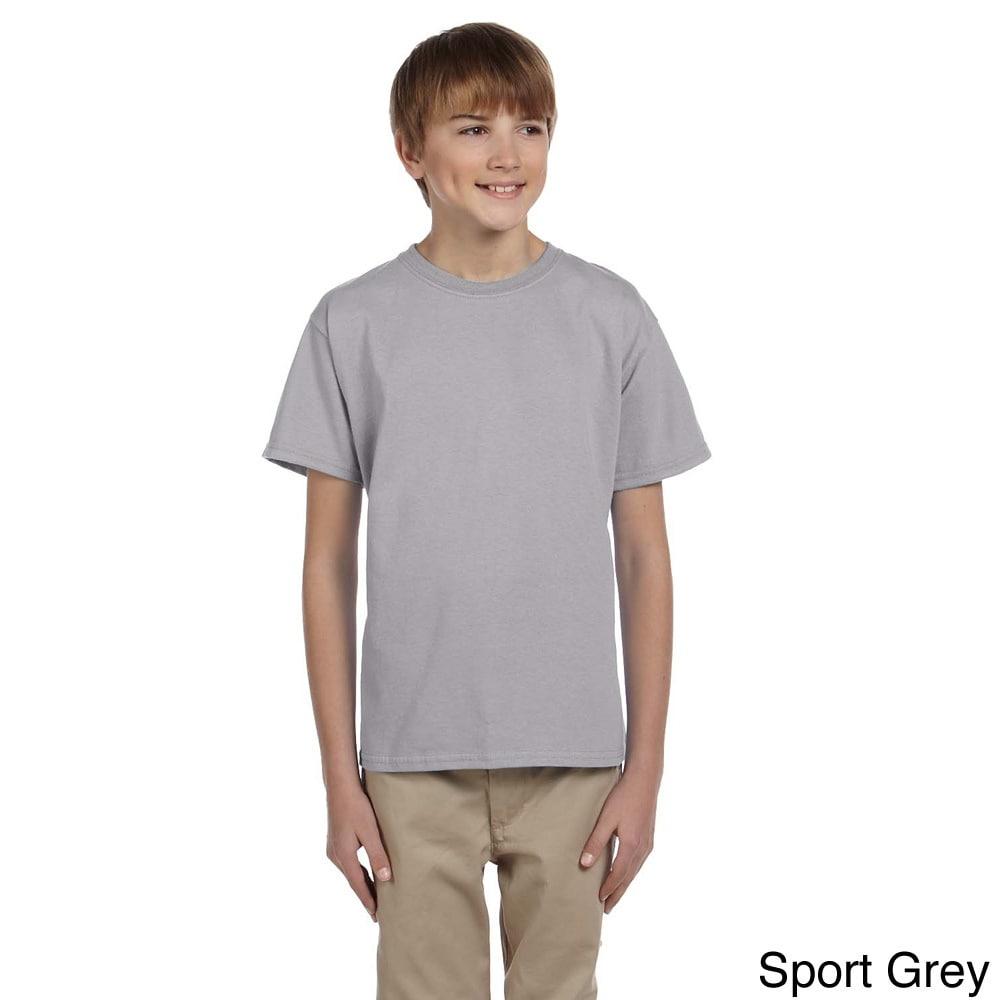 Gildan Gildan Youth Ultra Cotton 6 ounce T shirt Grey Size L (14 16)
