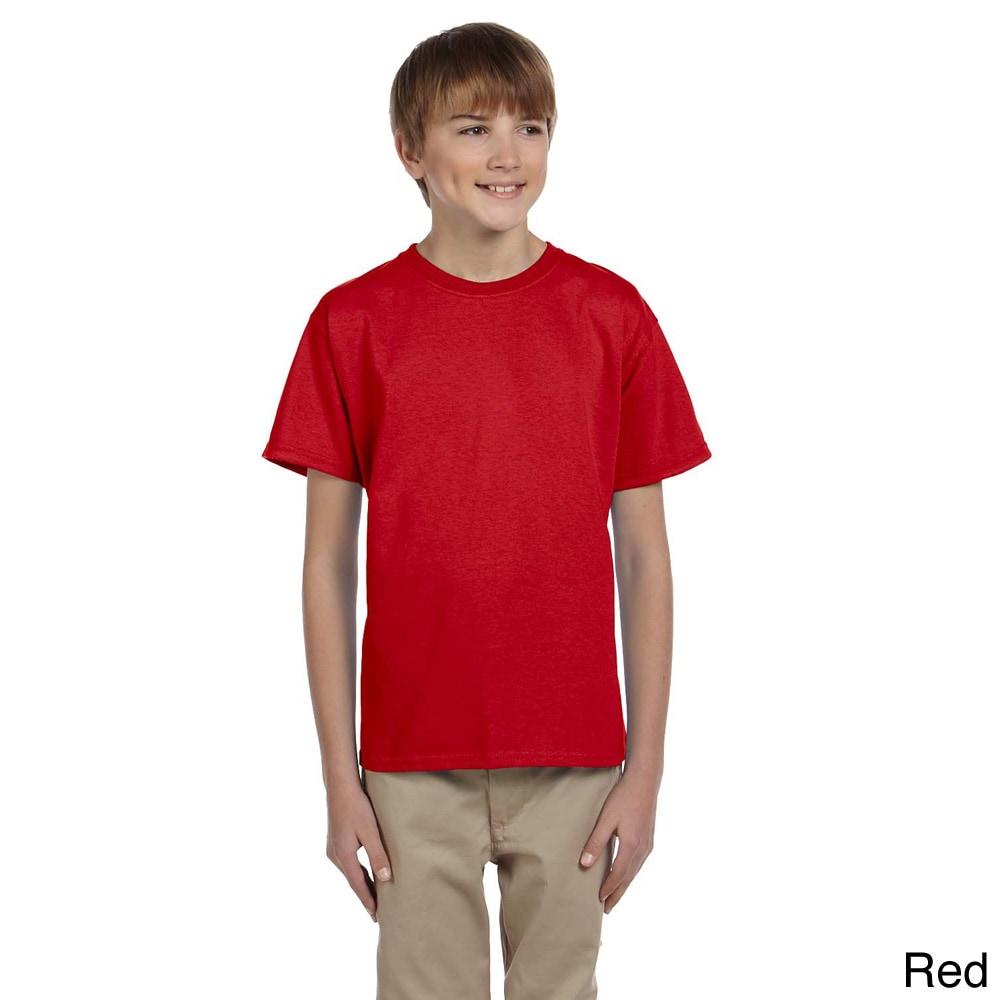 Gildan Gildan Youth Ultra Cotton 6 ounce T shirt Red Size XS (4 6)