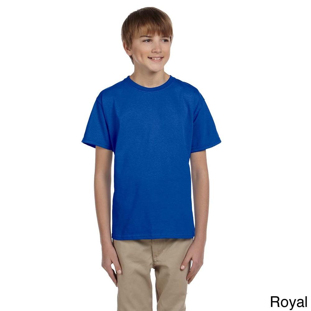 Gildan Gildan Youth Ultra Cotton 6 ounce T shirt Blue Size M (10 12)