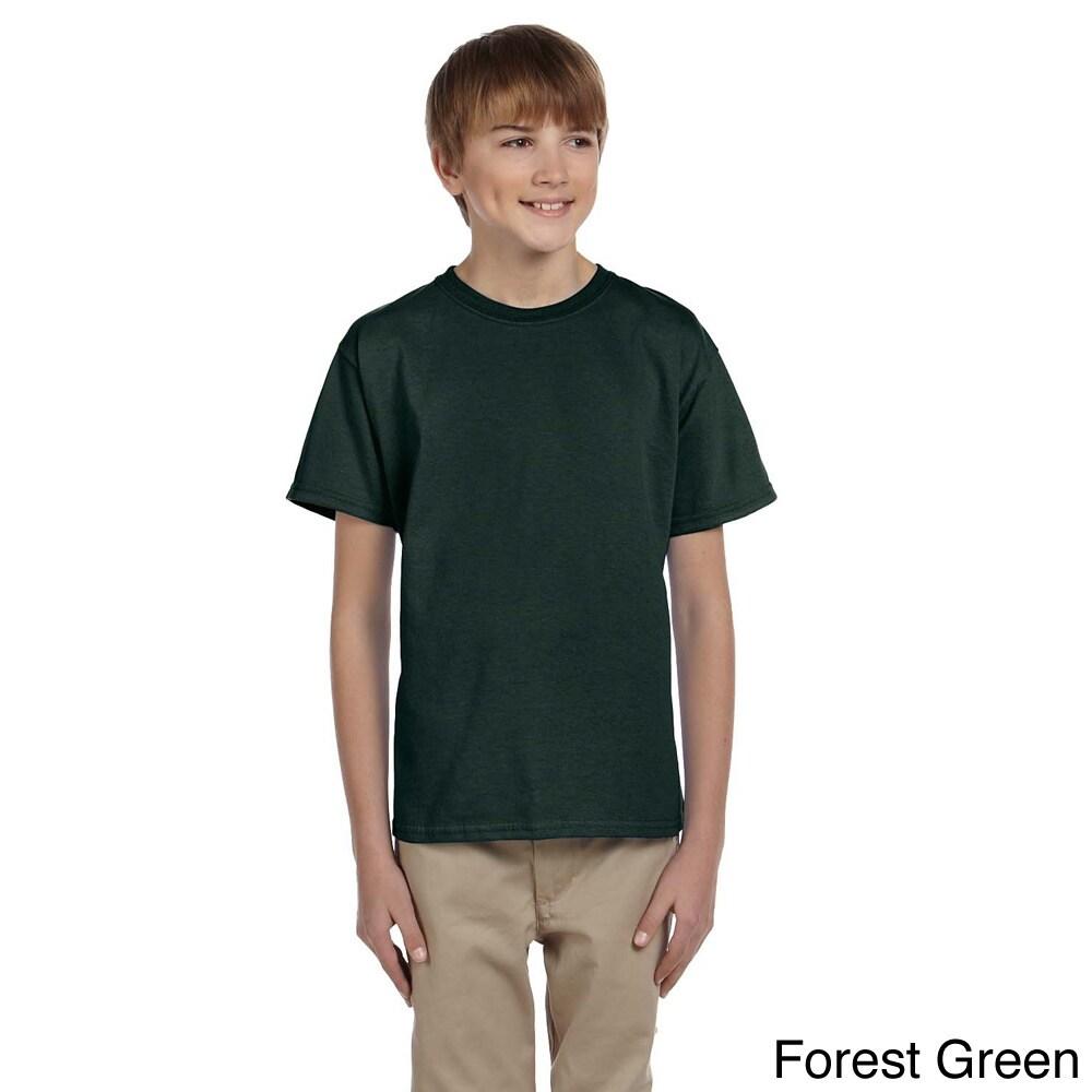 Gildan Gildan Youth Ultra Cotton 6 ounce T shirt Green Size L (14 16)