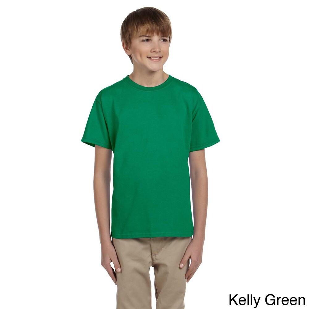 Gildan Gildan Youth Ultra Cotton 6 ounce T shirt Green Size XS (4 6)