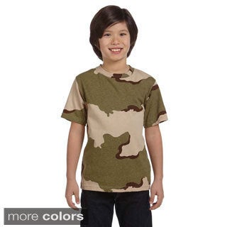 Youth Camouflage Cotton T-shirt