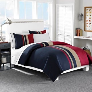 Nautica Everson Tradtional Cotton Duvet Cover Set