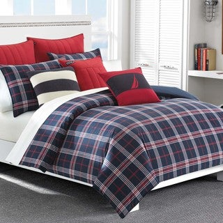 Nautica Clearbrook Plaid 3-Piece Cotton Duvet Cover Set