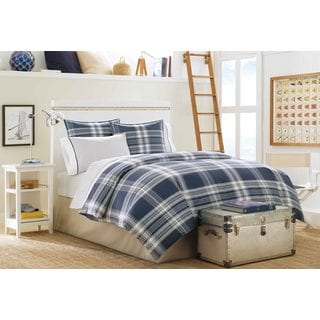 Nautica Biscayne Bay Plaid 3-Piece Cotton Duvet Cover Set